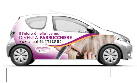 grafica pubblicitaria su auto